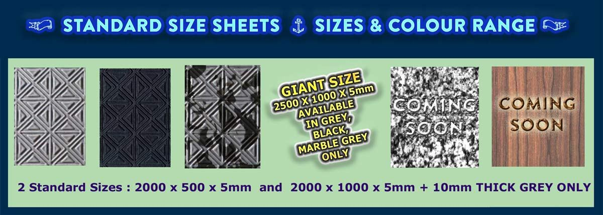 Standard Sheets Sizes & Colours